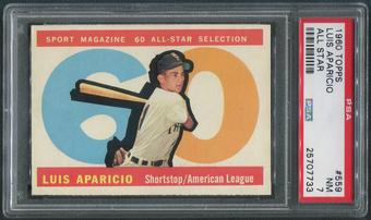 1960 Topps Baseball #559 Luis Aparicio All Star PSA 7 (NM)