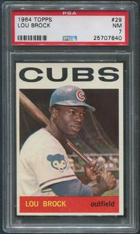 1964 Topps Baseball #29 Lou Brock PSA 7 (NM)