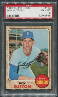 1968 O-Pee-Chee Baseball #103 Don Sutton PSA 6 (EX-MT)