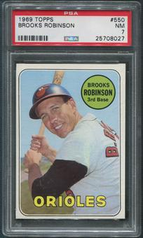 1969 Topps Baseball #550 Brooks Robinson PSA 7 (NM)