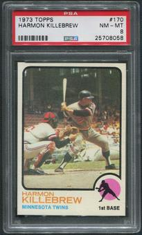 1973 Topps Baseball #170 Harmon Killebrew PSA 8 (NM-MT)