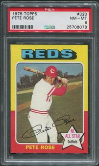 1975 Topps Baseball #320 Pete Rose PSA 8 (NM-MT)