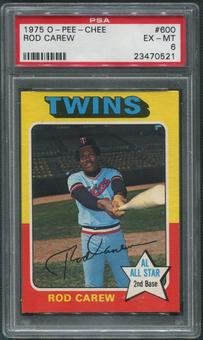 1975 O-Pee-Chee Baseball #600 Rod Carew PSA 6 (EX-MT)