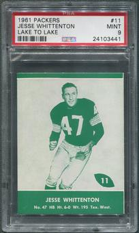 1961 Packers Lake to Lake Football #11 Jesse Whittenton PSA 9 (MINT)