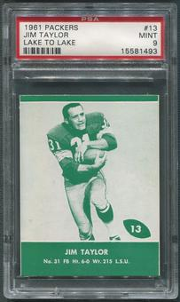 1961 Packers Lake to Lake Football #13 Jim Taylor PSA 9 (MINT)