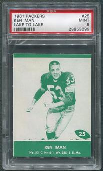 1961 Packers Lake to Lake Football #25 Ken Iman PSA 9 (MINT)