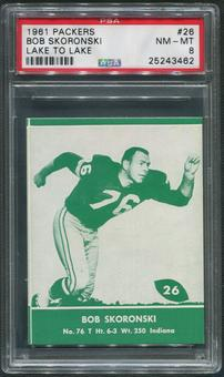 1961 Packers Lake to Lake Football #26 Bob Skoronski PSA 8 (NM-MT)