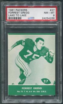 1961 Packers Lake to Lake Football #27 Forrest Gregg PSA 8 (NM-MT)