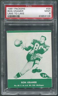 1961 Packers Lake to Lake Football #29 Ron Kramer PSA 9 (MINT)