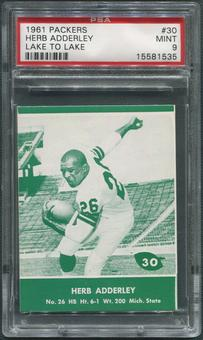 1961 Packers Lake to Lake Football #30 Herb Adderley PSA 9 (MINT)