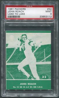 1961 Packers Lake to Lake Football #32 John Roach PSA 9 (MINT)