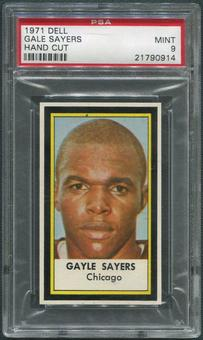 1971 Dell Photos Football #41 Gale Sayers Hand Cut PSA 9 (MINT)