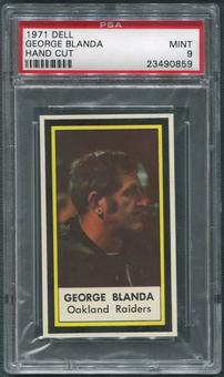 1971 Dell Photos Football #5 George Blanda Hand Cut PSA 9 (MINT)