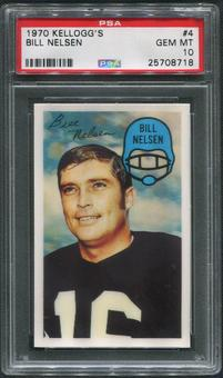 1970 Kellogg's Football #4 Bill Nelsen PSA 10 (GEM MT)