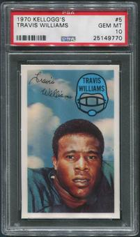 1970 Kellogg's Football #5 Travis Williams PSA 10 (GEM MT)