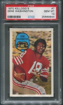 1970 Kellogg's Football #7 Gene Washington PSA 10 (GEM MT)