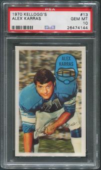 1970 Kellogg's Football #13 Alex Karras PSA 10 (GEM MT)