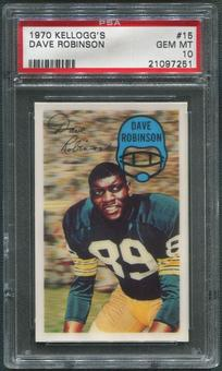 1970 Kellogg's Football #15 Dave Robinson PSA 10 (GEM MT)