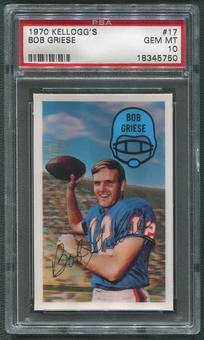 1970 Kellogg's Football #17 Bob Griese PSA 10 (GEM MT)