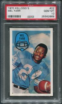1970 Kellogg's Football #22 Mel Farr PSA 10 (GEM MT)