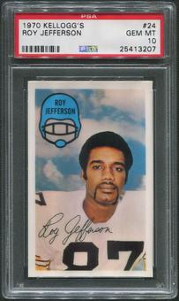 1970 Kellogg's Football #24 Roy Jefferson PSA 10 (GEM MT)
