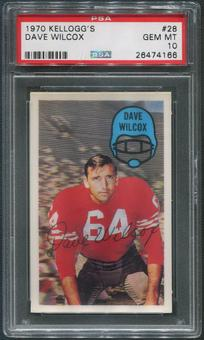 1970 Kellogg's Football #28 Dave Wilcox PSA 10 (GEM MT)
