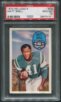1970 Kellogg's Football #29 Matt Snell PSA 10 (GEM MT)