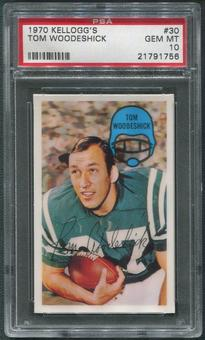 1970 Kellogg's Football #30 Tom Woodeshick PSA 10 (GEM MT)