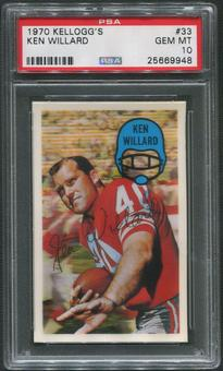 1970 Kellogg's Football #33 Ken Willard PSA 10 (GEM MT)
