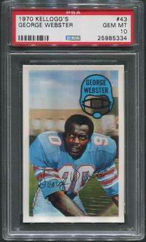 1970 Kellogg's Football #43 George Webster PSA 10 (GEM MT)