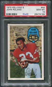 1970 Kellogg's Football #44 John Roland PSA 10 (GEM MT)