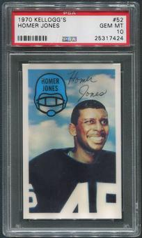 1970 Kellogg's Football #52 Homer Jones PSA 10 (GEM MT)