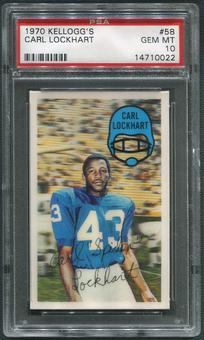 1970 Kellogg's Football #58 Carl Lockhart PSA 10 (GEM MT)