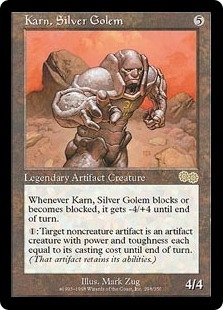 Magic the Gathering Urza's Saga Single Karn, Silver Golem - SLIGHT PLAY (SP)