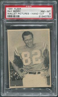 1961 Fleer Wallet Pictures #92 Raymond Berry Hand Cut PSA 8 (NM-MT)