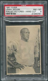 1961 Fleer Wallet Pictures #93 Lenny Moore Hand Cut PSA 8 (NM-MT)
