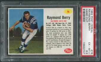 1962 Post Cereal Football #76 Raymond Berry Hand Cut PSA 6.5 (EX-MT+)
