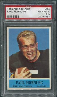 1964 Philadelphia Football #74 Paul Hornung PSA 8.5 (NM-MT+)