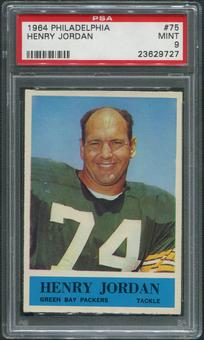 1964 Philadelphia Football #75 Hank Jordan PSA 9 (MINT)