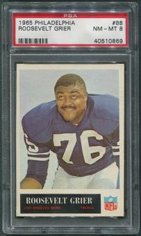 1965 Philadelphia Football #88 Roosevelt Grier PSA 8 (NM-MT)