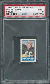 1969 Topps Four-in-One Single Football Ray Nitschke PSA 9 (MINT)