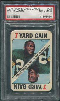 1971 Topps Game Inserts Football #22 Willie Wood PSA 8 (NM-MT)