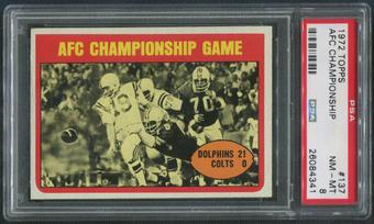 1972 Topps Football #137 AFC Championship PSA 8 (NM-MT)