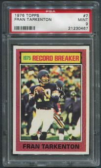 1976 Topps Football #7 Fran Tarkenton Record Breaker PSA 9 (MINT)