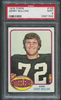 1976 Topps Football #159 Gerry Mullins PSA 9 (MINT)