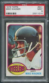 1976 Topps Football #501 Mike Wagner PSA 9 (MINT)
