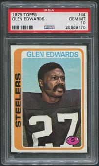 1978 Topps Football #44 Glen Edwards PSA 10 (GEM MT)