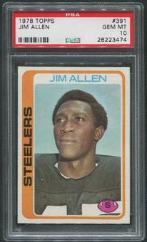 1978 Topps Football #391 Jim Allen Rookie PSA 10 (GEM MT)