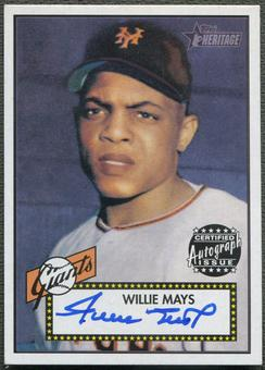 2001 Topps Heritage #THAWM Willie Mays Auto