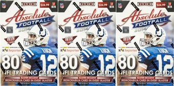 2014 Panini Absolute Football 8-Pack Box (Lot of 3)
